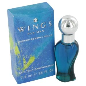 WINGS by Giorgio Beverly Hills Mini EDT Spray .25 oz Men
