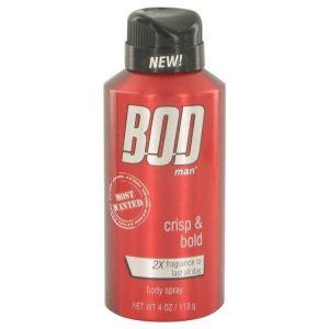 Bod Man Most Wanted by Parfums De Coeur Body Spray 4 oz Men
