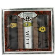 Cuba Gold by Fragluxe Gift Set -- 3.3 oz Eau De Toilette Spray + 3.3 oz After Shave Spray + 6.7 oz Body Deodorant Spray Men