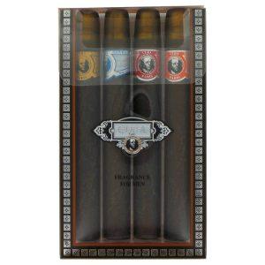 CUBA BLUE by Fragluxe Gift Set -- Cuba Variety Set includes All Four 1.15 oz Sprays