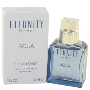 Eternity Aqua by Calvin Klein Eau De Toilette Spray 1 oz Men