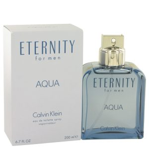 Eternity Aqua by Calvin Klein Eau De Toilette Spray 6.7 oz Men