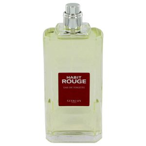 HABIT ROUGE by Guerlain Eau De Toilette Spray (Tester) 3.4 oz Men
