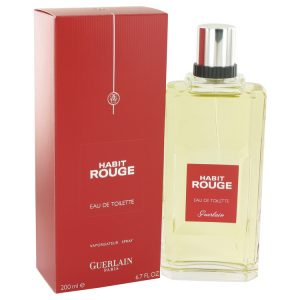 HABIT ROUGE by Guerlain Eau De Toilette Spray 6.8 oz Men