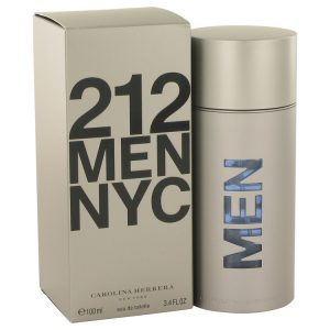 212 by Carolina Herrera Eau De Toilette Spray (New Packaging) 3.4 oz Men