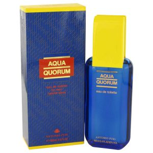 AQUA QUORUM by Antonio Puig Eau De Toilette Spray 3.4 oz Men