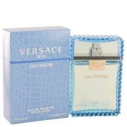 Versace Man by Versace Eau Fraiche Eau De Toilette Spray (Blue) 3.4 oz Men