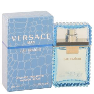 Versace Man by Versace Eau Fraiche Eau De Toilette Spray (Blue) 1 oz Men