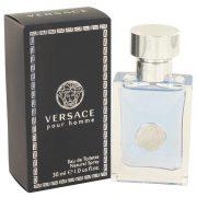 Versace Pour Homme by Versace Eau De Toilette Spray 1 oz Men