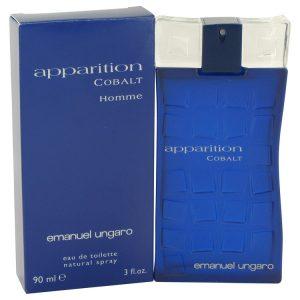 Apparition Cobalt by Ungaro Eau De Toilette Spray 3 oz Men
