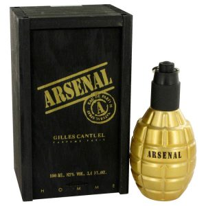 Arsenal Gold by Gilles Cantuel Eau De Parfum Spray 3.4 oz Men