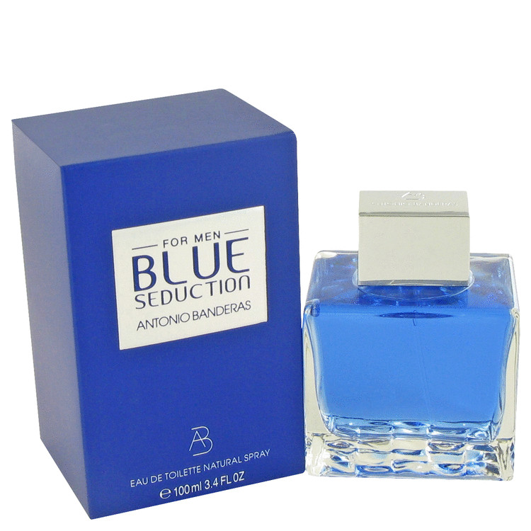 Blue Seduction by Antonio Banderas Eau De Toilette Spray 3.4 oz Men