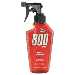 Bod Man Most Wanted by Parfums De Coeur Fragrance Body Spray 8 oz Men