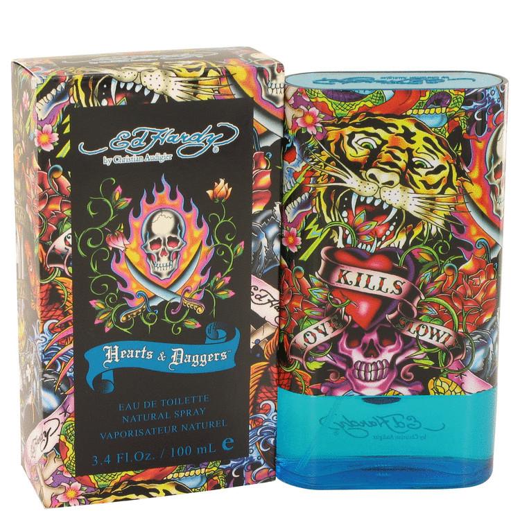 Ed Hardy Hearts & Daggers by Christian Audigier Eau De Toilette Spray 3.4 oz Men