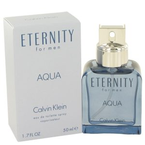 Eternity Aqua by Calvin Klein Eau De Toilette Spray 1.7 oz Men