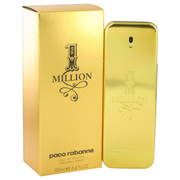 1 Million by Paco Rabanne Eau De Toilette Spray 3.4 oz Men
