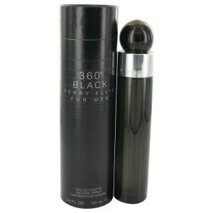 Perry Ellis 360 Black by Perry Ellis Eau De Toilette Spray 3.4 oz Men