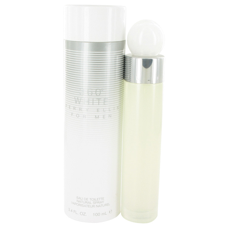 Perry Ellis 360 White by Perry Ellis Eau De Toilette Spray 3.4 oz Men