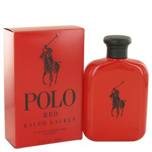Polo Red by Ralph Lauren Eau De Toilette Spray 4.2 oz Men