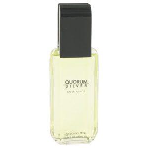 Quorum Silver by Puig Eau De Toilette Spray (Tester) 3.4 oz Men