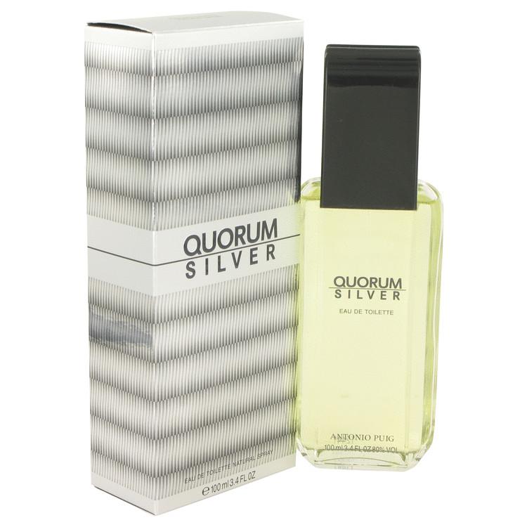 Quorum Silver by Puig Eau De Toilette Spray 3.4 oz Men