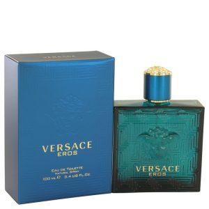 Versace Eros by Versace Eau De Toilette Spray 3.4 oz Men