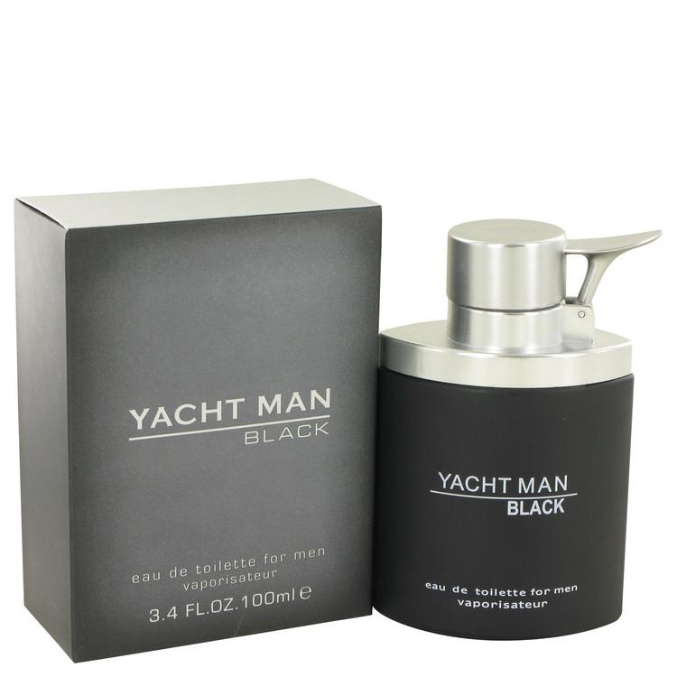 Yacht Man Black by Myrurgia Eau De Toilette Spray 3.4 oz Men