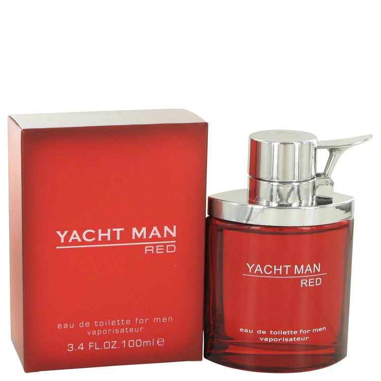 Yacht Man Red by Myrurgia Eau De Toilette Spray 3.4 oz Men