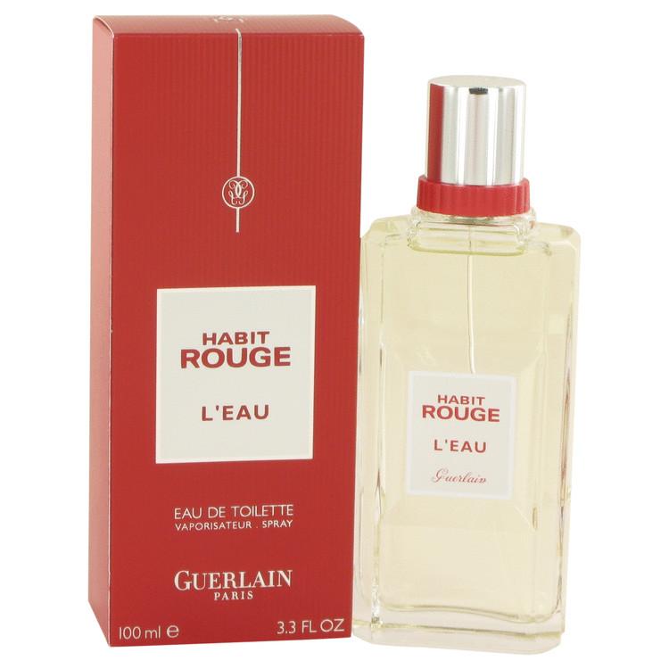 Habit Rouge L'eau by Guerlain Eau De Toilette Spray 3.3 oz Men