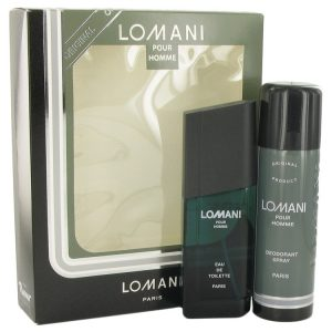 LOMANI by Lomani Gift Set -- 3.4 oz Eau De Toilette Spray + 6.7 oz Deodorant Spray Men
