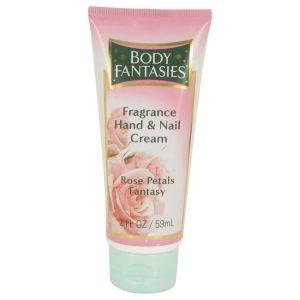 Body Fantasies Signature Rose Petals Fantasy by Parfums De Coeur Hand & Nail Cream 2 oz Women