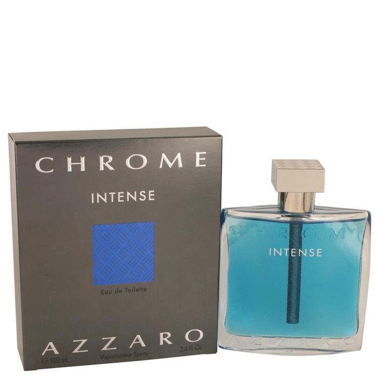 Chrome Intense by Azzaro Eau De Toilette Spray 3.4 oz Men