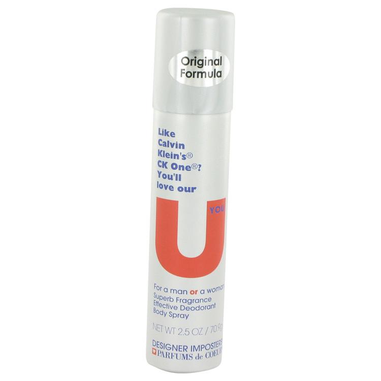 Designer Imposters U You by Parfums De Coeur Deodorant Body Spray (Unisex) 2.5 oz Women