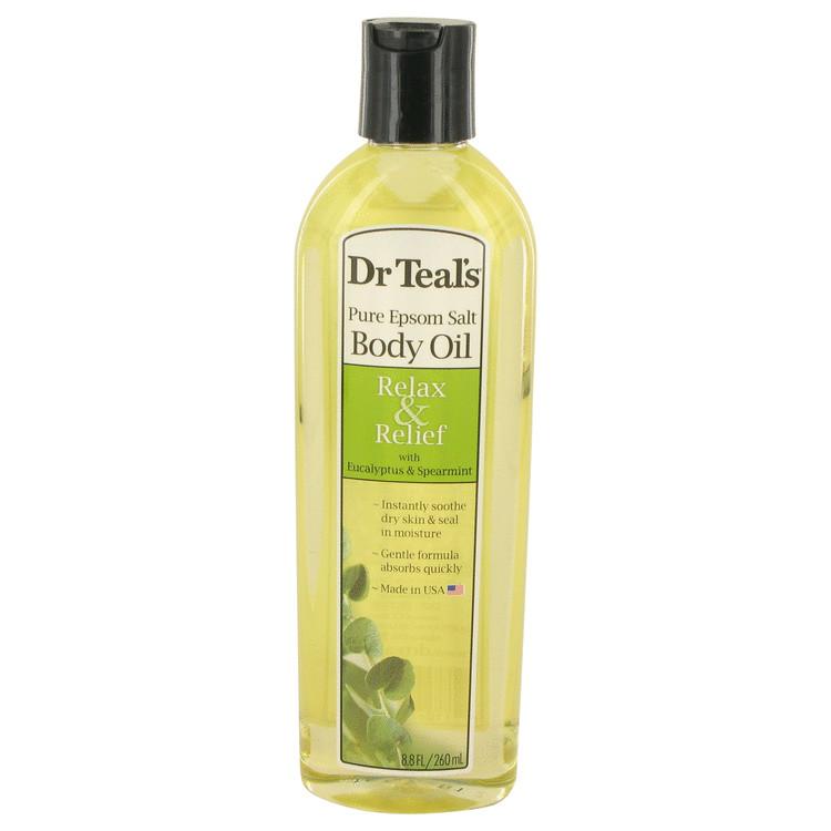 Dr Teal's Bath Additive Eucalyptus Oil by Dr Teal's Pure Epson Salt Body Oil Relax & Relief with Eucalyptus & Spearmint 8.8 oz Women