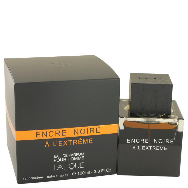 Encre Noire A L'extreme by Lalique Eau De Parfum Spray 3.3 oz Men