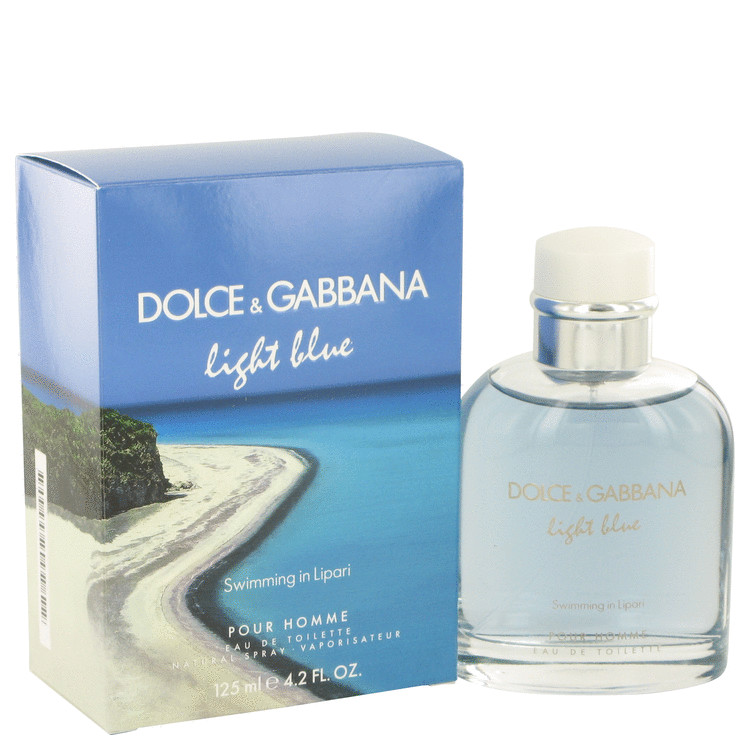 Light Blue Swimming in Lipari by Dolce & Gabbana Eau De Toilette Spray 4.2 oz Men