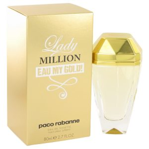 Lady Million Eau My Gold by Paco Rabanne Eau De Toilette Spray 2.7 oz Women