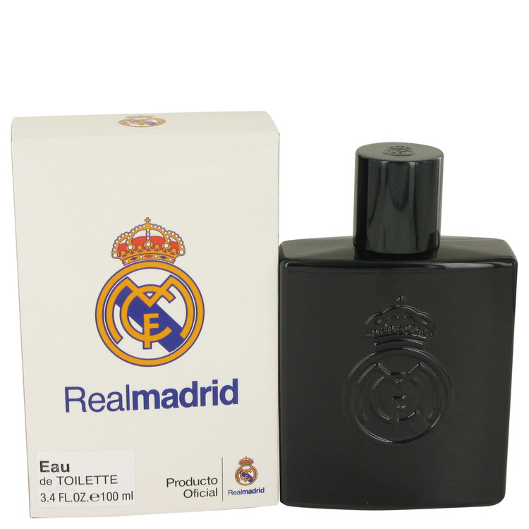 Real Madrid Black by Air Val International Eau De Toilette Spray 3.4 oz Men