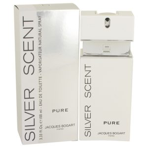 Silver Scent Pure by Jacques Bogart Eau De Toilette Spray 3.4 oz Men