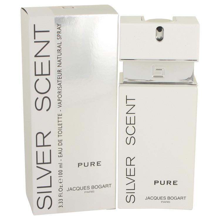 Silver Scent Pure by Jacques Bogart Eau De Toilette Spray 3.4 oz Men