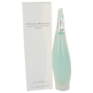 Liquid Cashmere Aqua by Donna Karan Eau De Parfum Spray 3.4 oz Women