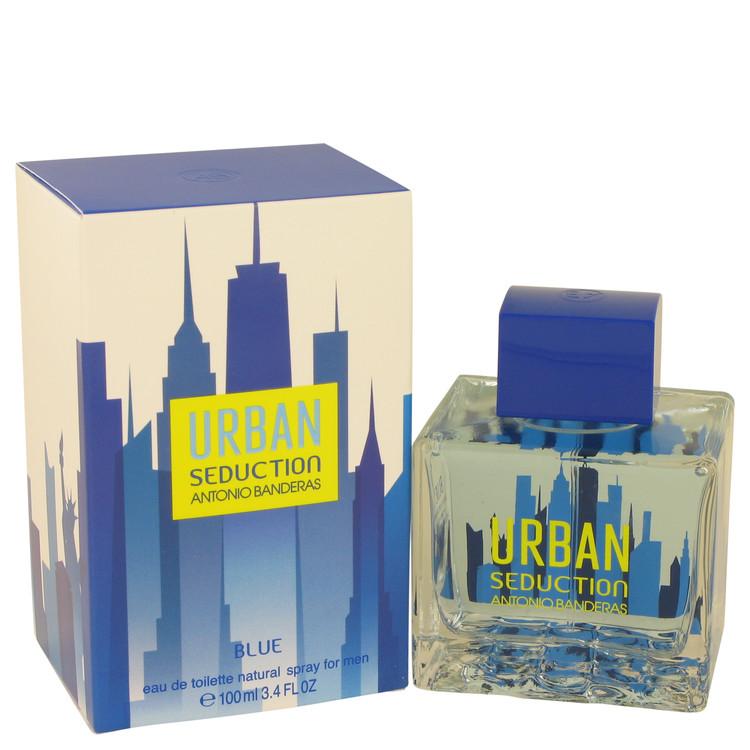 Urban Seduction Blue by Antonio Banderas Eau De Toilette Spray 3.4 oz Men