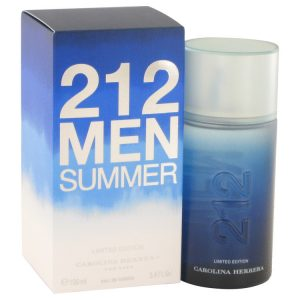 212 Summer by Carolina Herrera Eau De Toilette Spray (Limited Edition) 3.4 oz Men