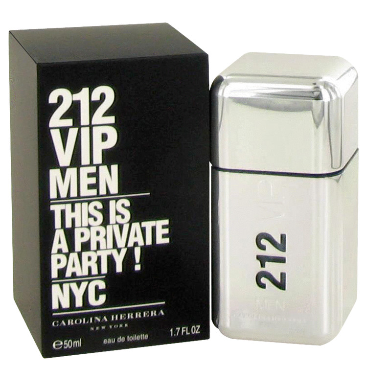 212 Vip by Carolina Herrera Eau De Toilette Spray 1.7 oz Men