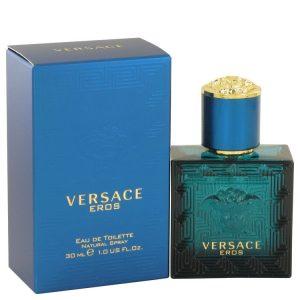 Versace Eros by Versace Eau De Toilette Spray 1 oz Men