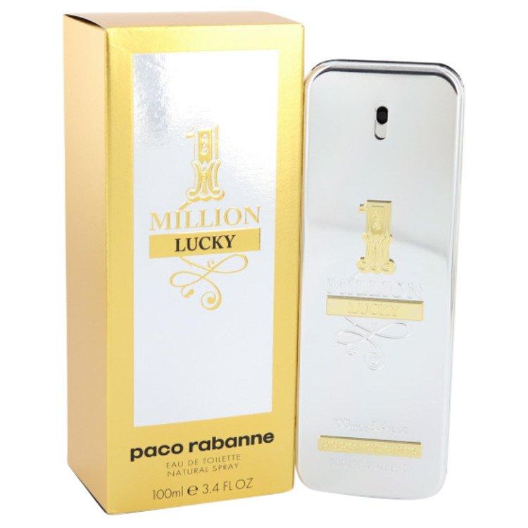 1 Million Lucky by Paco Rabanne Eau De Toilette Spray 3.4 oz Men