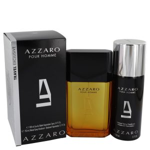 AZZARO by Azzaro Gift Set -- 3.4 oz Eau De Toilette Spray + 5.1 oz Deodorant Spray Men
