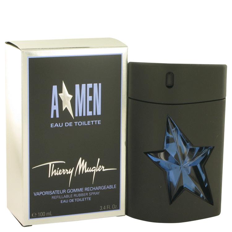 ANGEL by Thierry Mugler Eau De Toilette Spray Refillable (Rubber) 3.4 oz Men