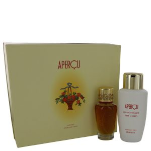 APERCU by Houbigant Gift Set -- 1.7 oz Eau De Toilette Spray + 6.7 oz Body Lotion Women