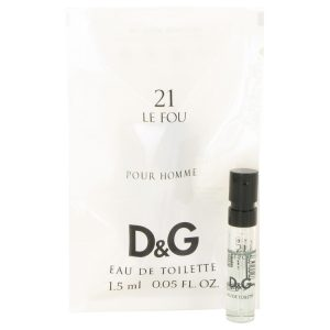 Le Fou 21 by Dolce & Gabbana Vial (Sample) .05 oz Men